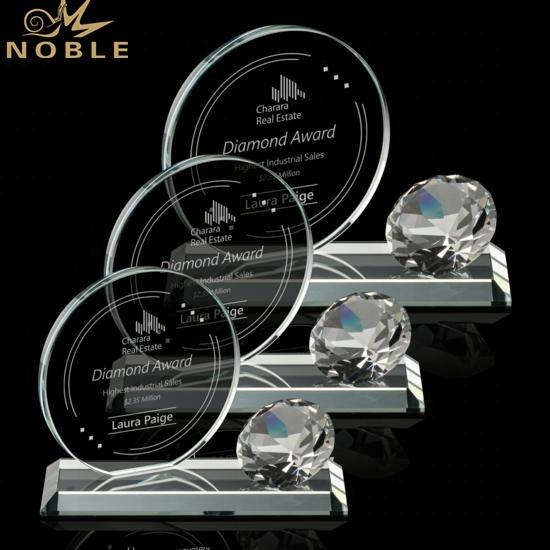 Noble New Design Custom Diamond Crystal Trophy Award