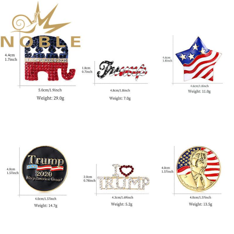 Custom 2020 American Vote Keep America Great Trump Badges