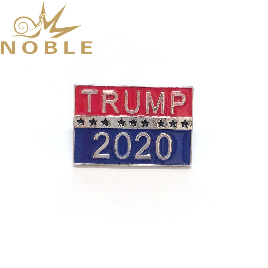 Custom 2020 American Vote Trump Lapel Pin Badges in Stock