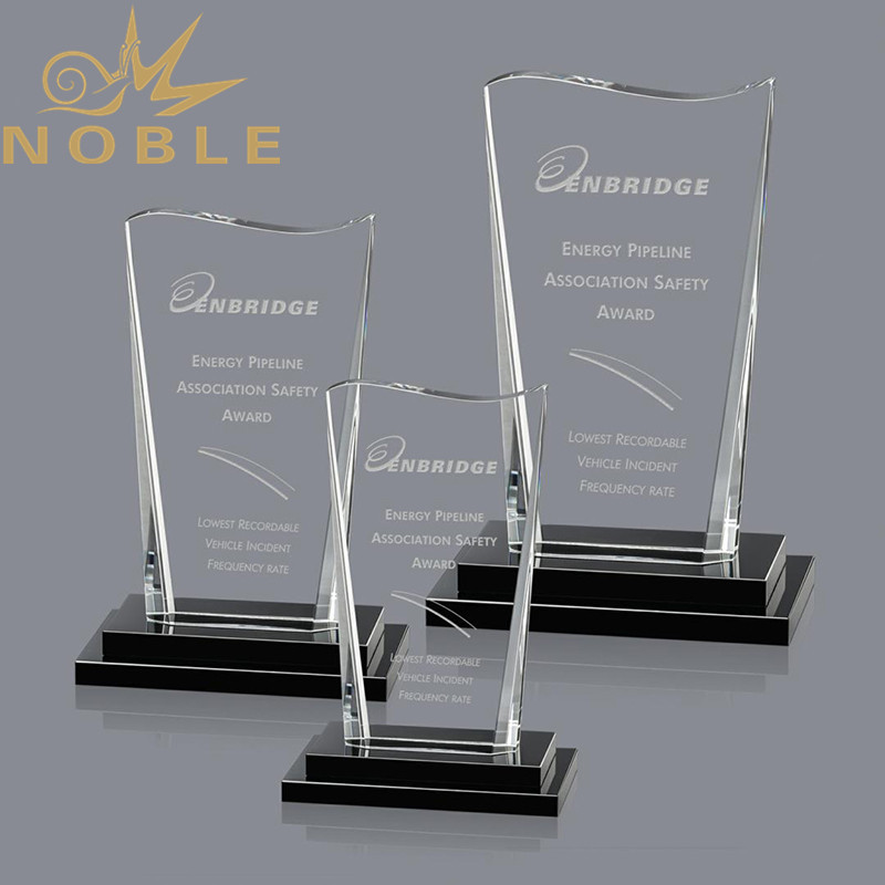 2020 New Design Crystal Plaque Award with Free Engraving