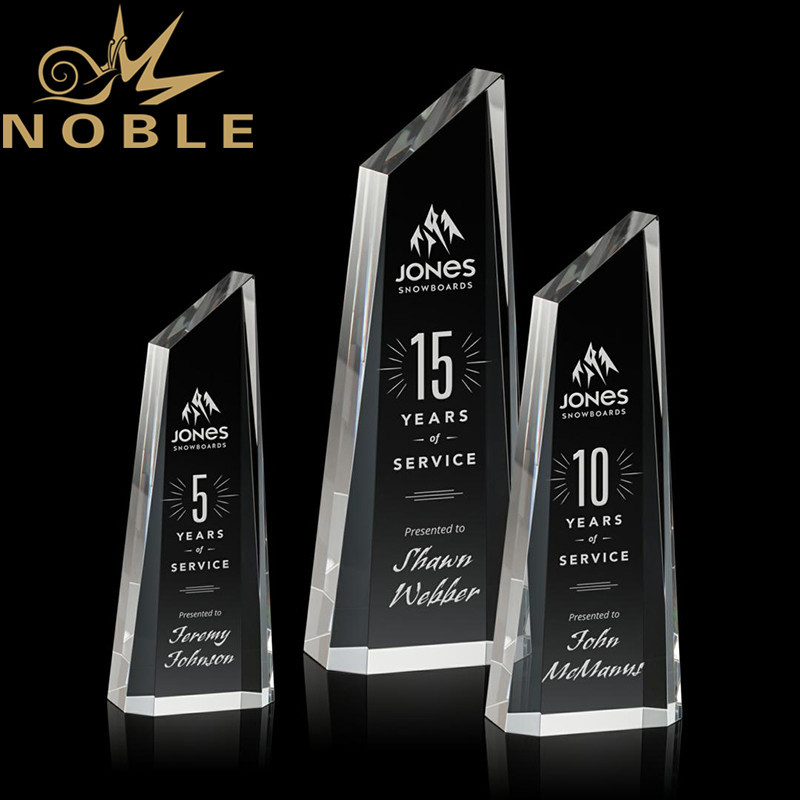 Noble New Design Engraving Optical Crystal Akron Tower Custom Award