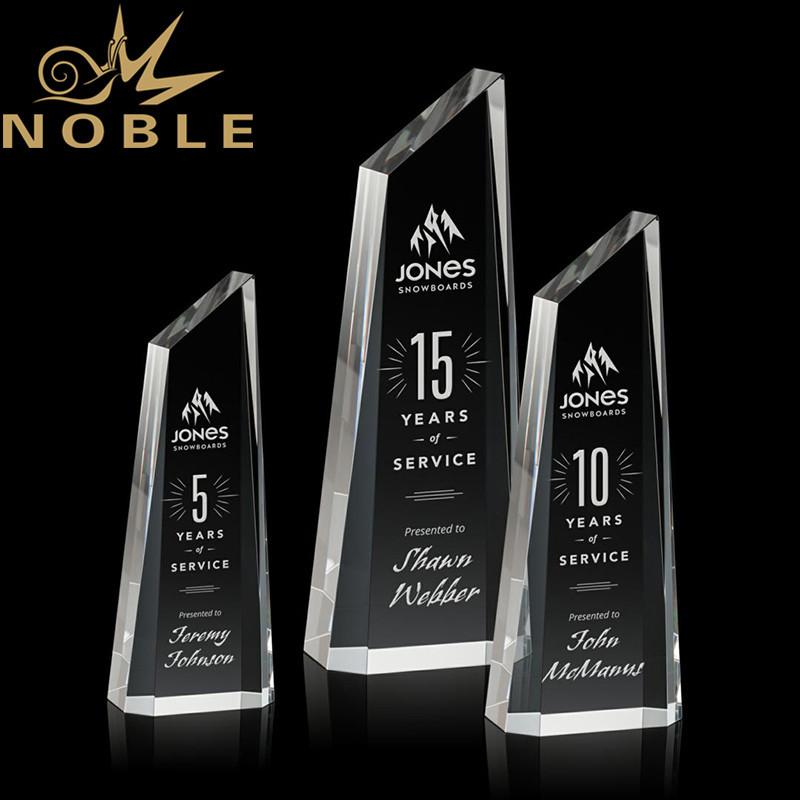 Noble New Design Engraving Optical Crystal Akron Tower Custom Award