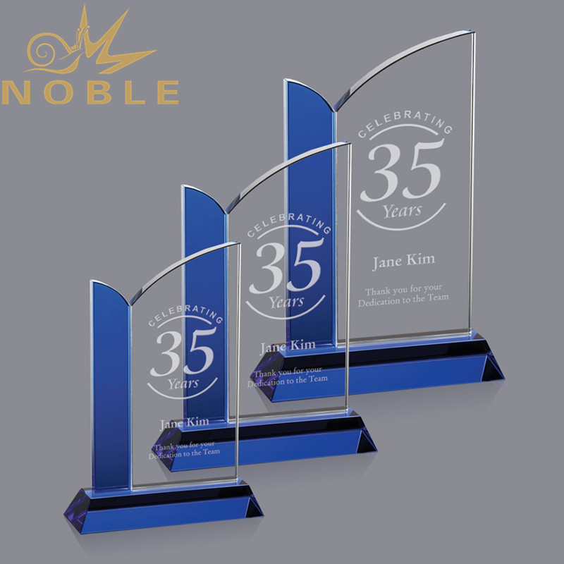 Custom Engraving Anniversary Souvenir Crystal Award Trophy