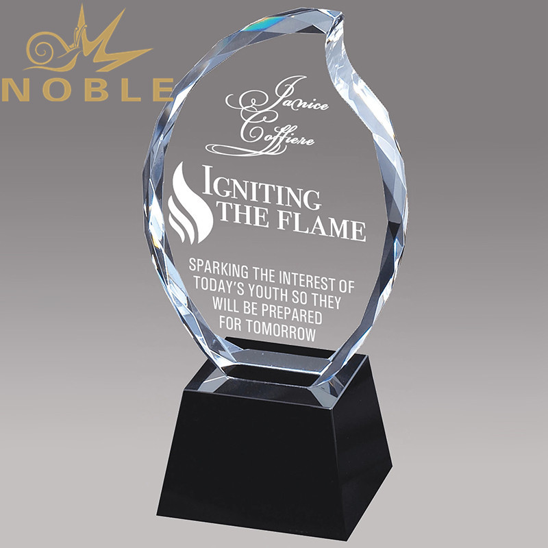 Custom Diamond Crystal Flame Trophy