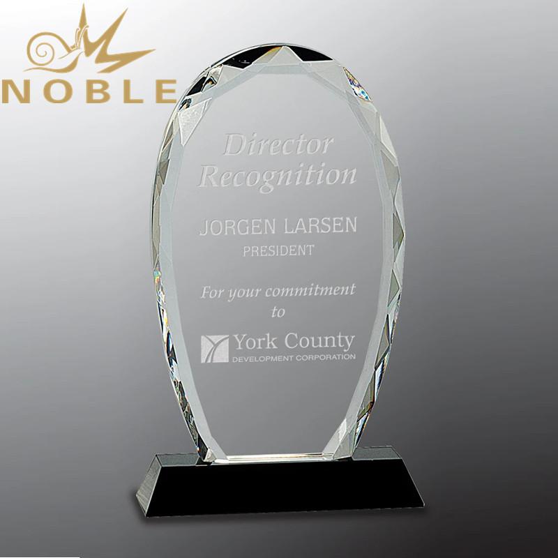 Faceted Prestige Crystal Palque Trophy