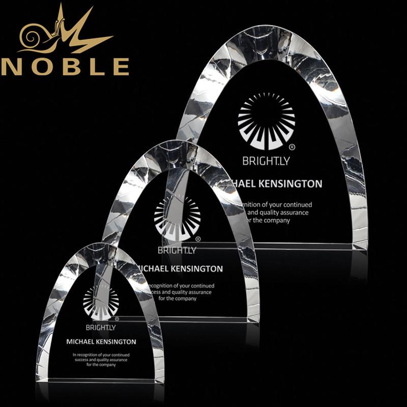 Free Engraving Custom Dome Crystal Award