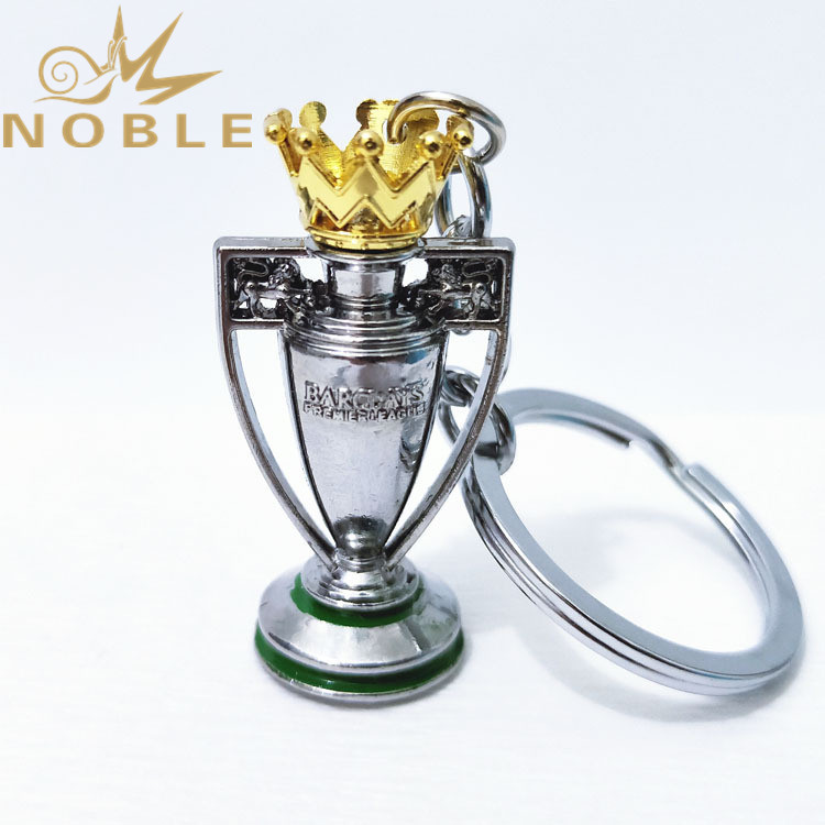 Custom Football Fans Support Gifts Premier League Champion Trophy Metal Keychain
