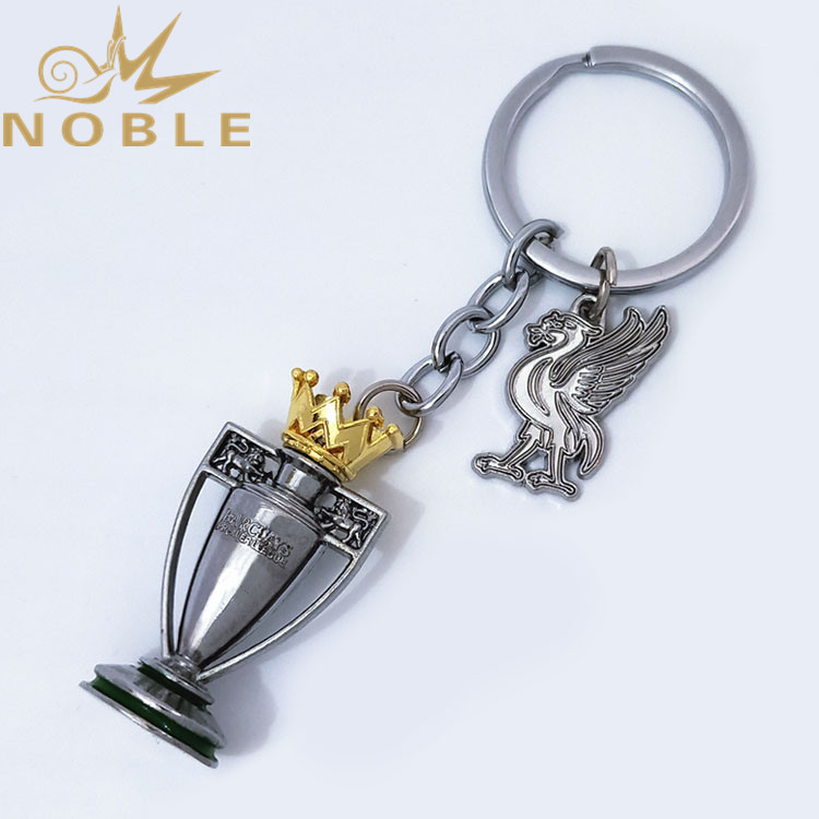 Premier League Champion Trophy Metal Keychain with Liverpool F.C. Club Badge for Football Fans Support Gifts