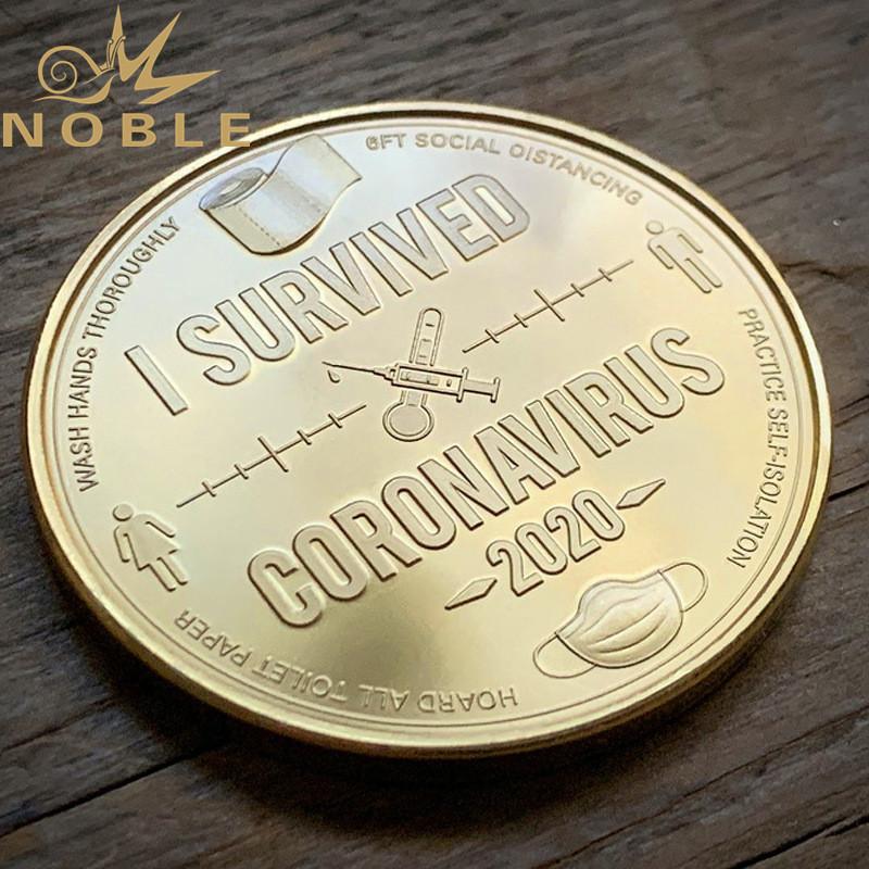 Custom Design COVID-19 CORONA Virus Souverir Metal Coins