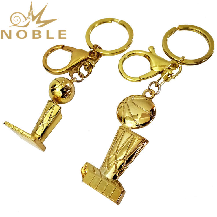 Popular New Design Custom NBA Champion Trophy Metal Keychain