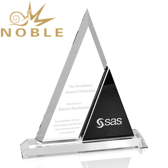 Best selling new design Harmony Triangle Crystal Award plaque