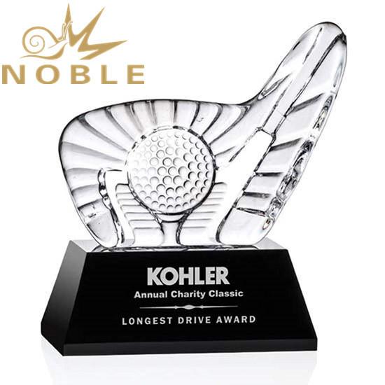 Best selling custom crystal iceberg sports Golf Award