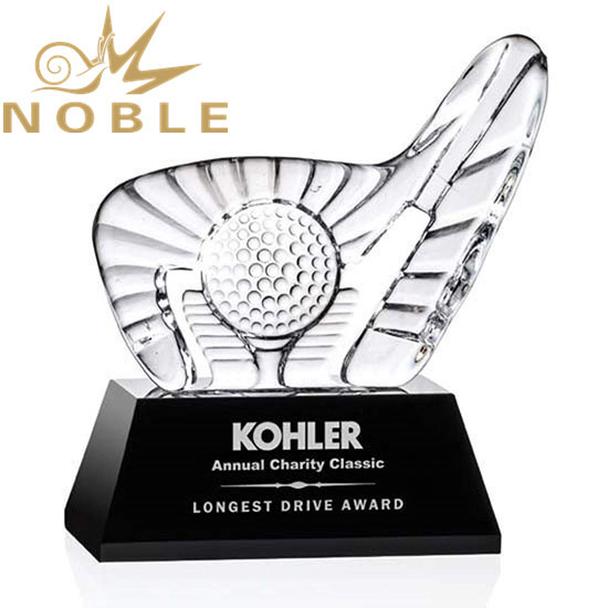 Best selling custom crystal iceberg sports Golf Award