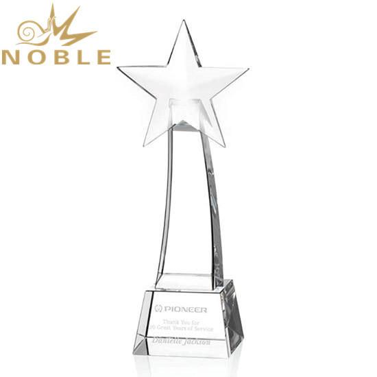 Best Selling Custom Crystal Rising Star Award