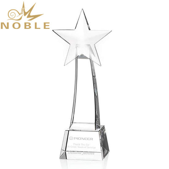 Best Selling Custom Crystal Rising Star Award