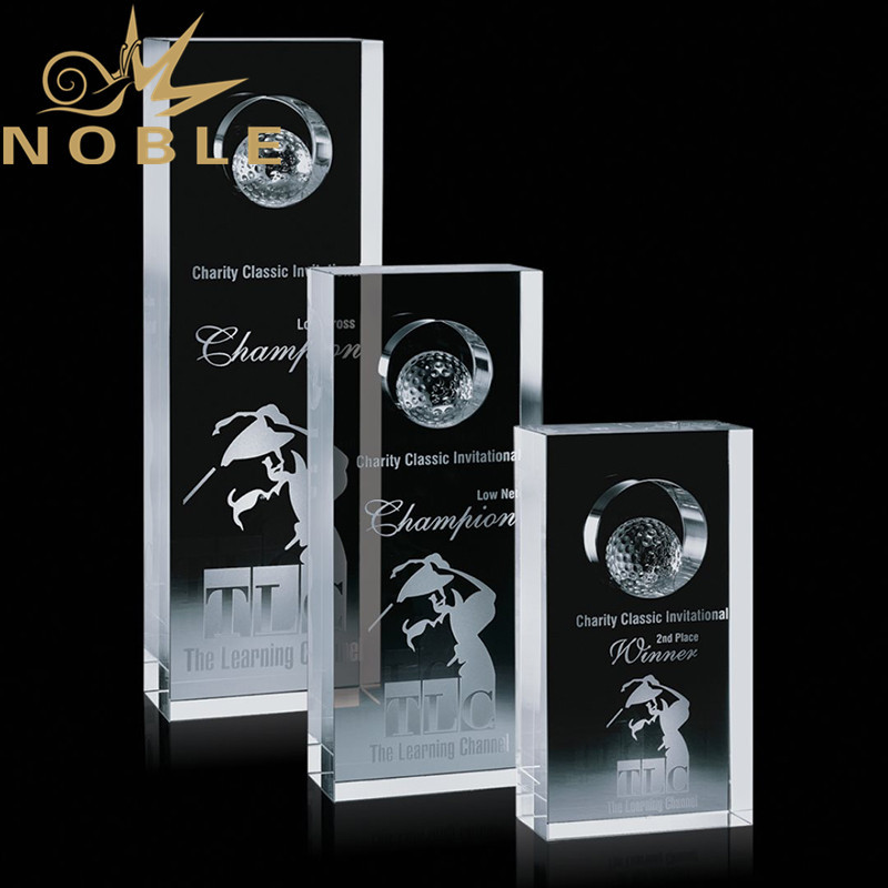 Noble Custom Sports Optical Crystal Golf Award