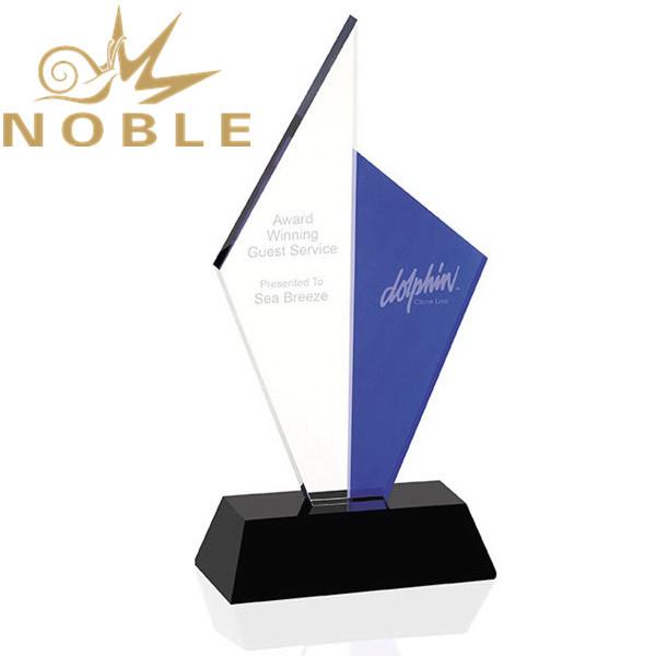 Free Engraving Custom Crystal Sailboat Award Trophy