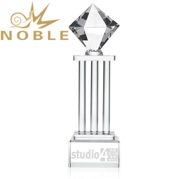 Noble High Quality New Design Custom Crystal Diamond Tower Award