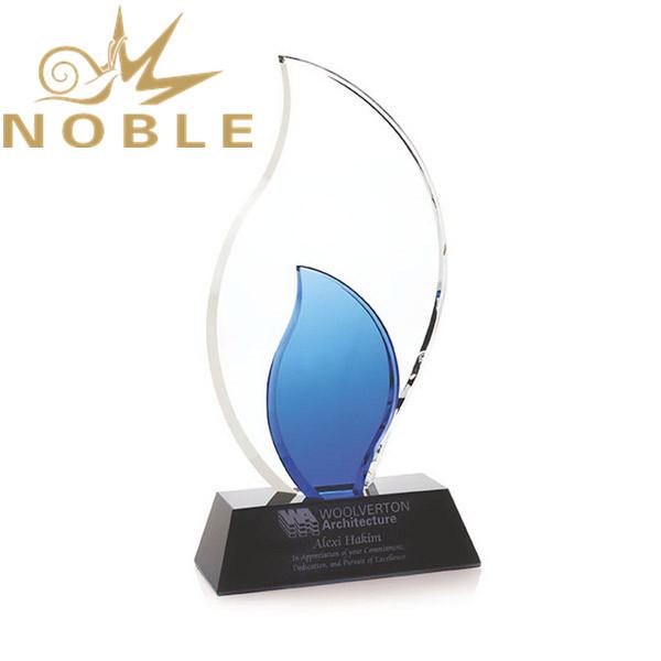 Noble High Quality Custom Crystal Trailblazer Flame Award