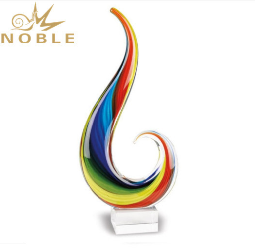 Unique New Design Hand Blown Home Decoration Gift Custom Art Glass Award