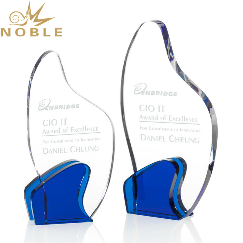 2020 New Design Optical Crystal Curves Plaque Award with Free Engraving