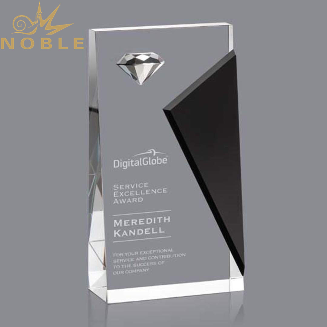 New Design High Quality Crystal Wedge Trophy with Diamond