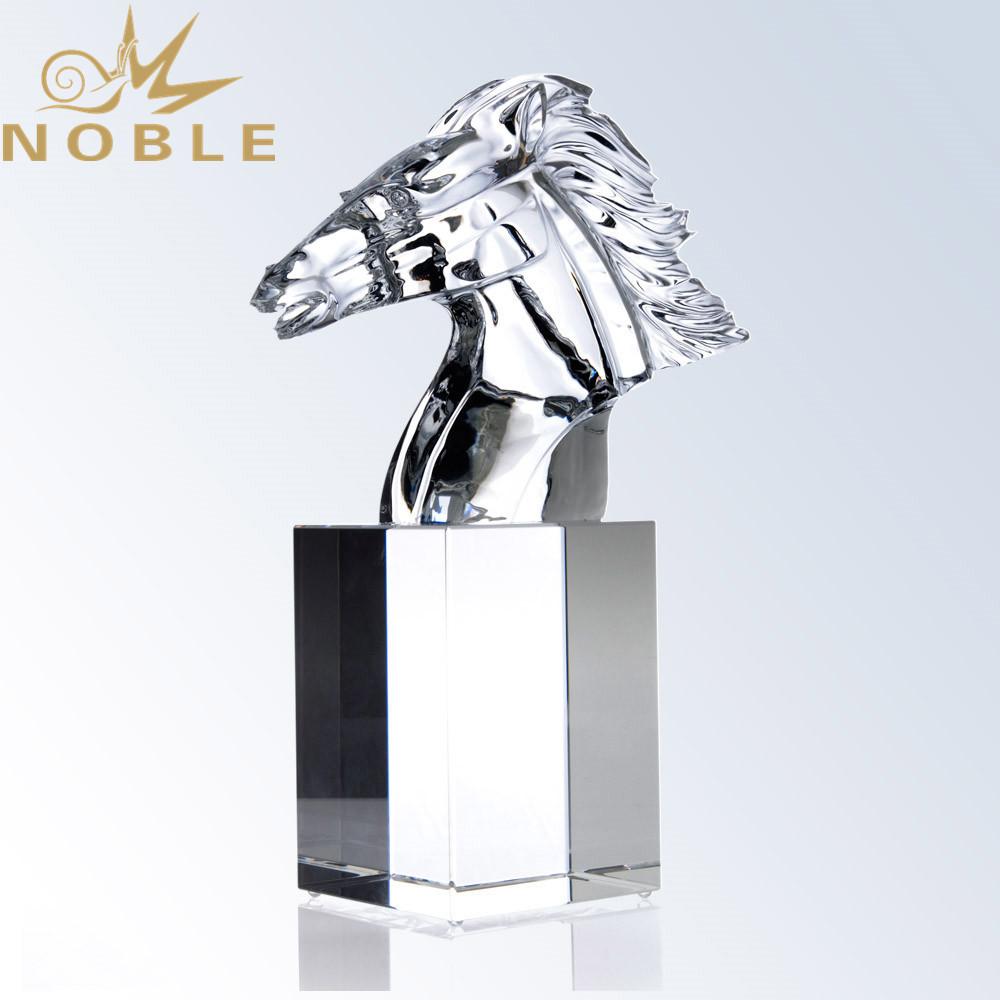 Noble High Quality Crystal Model Custom Crystal Horse Award