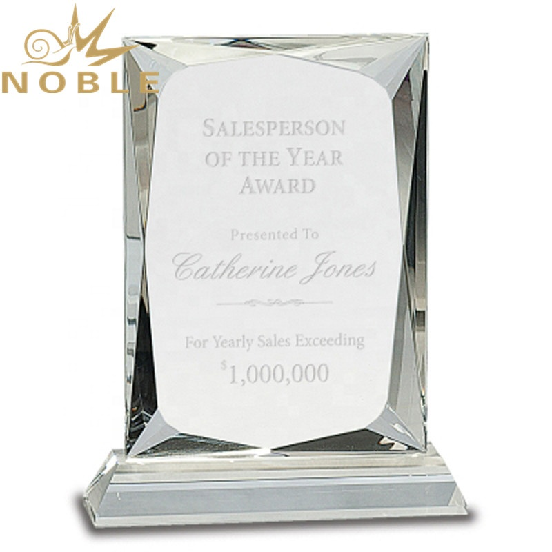 High Quality Best Selling Custom Rectangle Prism Crystal Award