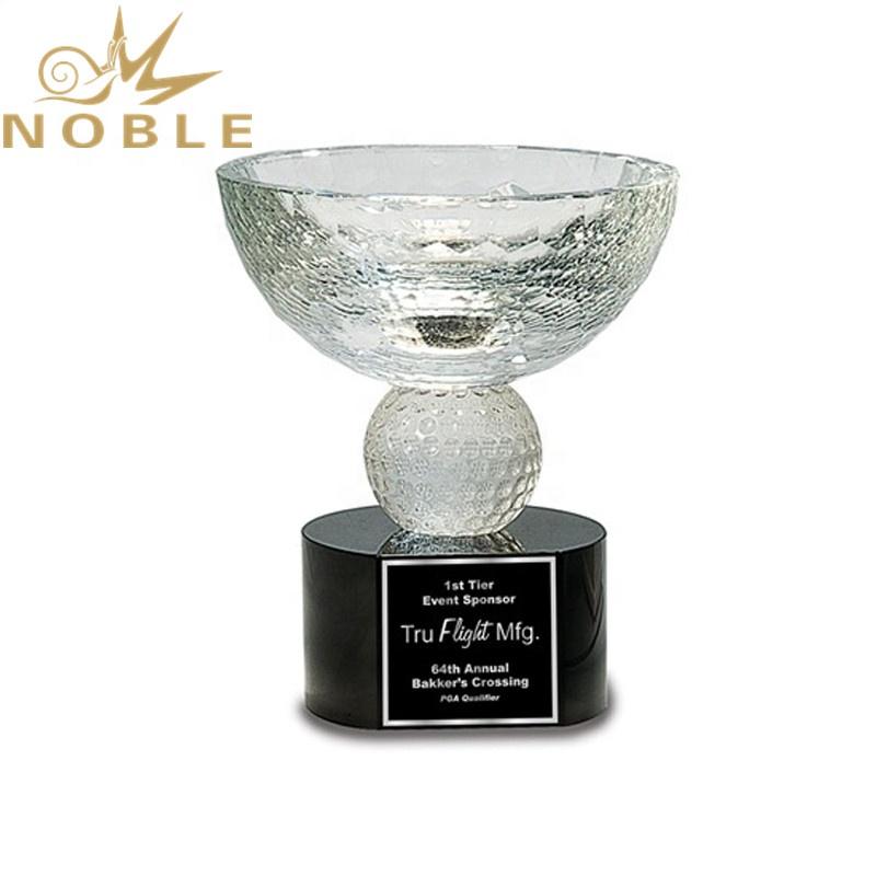 New Design High Quality Custom Crystal Golf Bowl Trophy