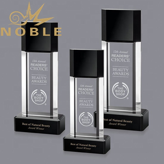 Best Selling High Quality Custom Crystal Plaque Award Combine with Black Crystal