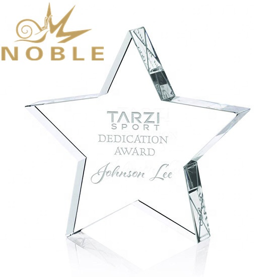 Custom Engraving Optical Crystal Star Award Paperweight As Business Gift