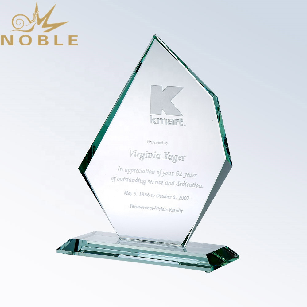 Custom New Design Blank Jade Glass Achievement Palque Award
