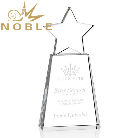 High Quality K9 Optical Crystal Star Award