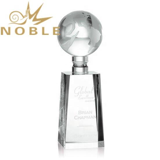 Wholesale Custom Engraving Crystal Globe Award
