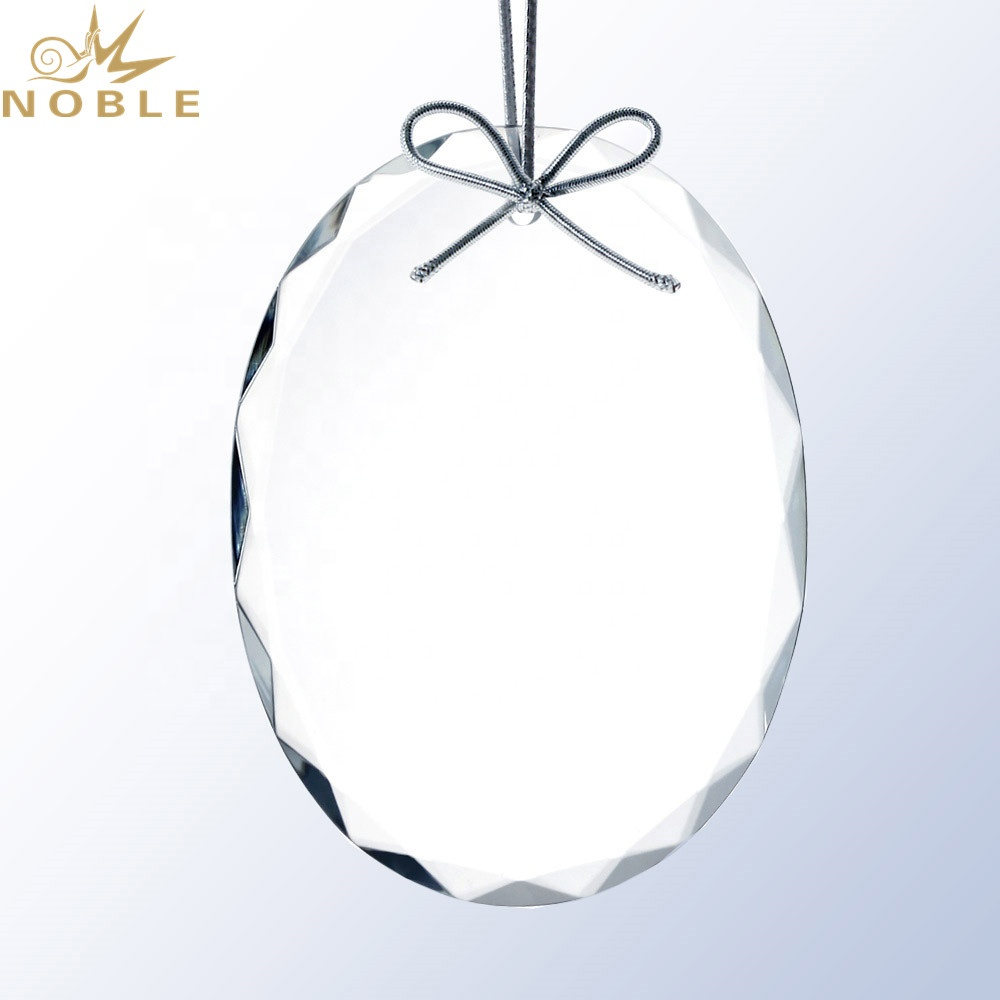 Premium Glass Oval Ornament for Christmas Decoration Gifts