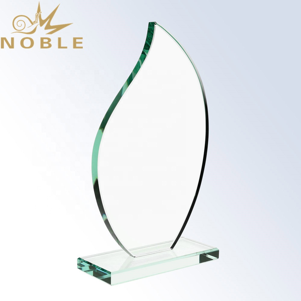 2020 New Design Jade Glass Blank Flame Trophy