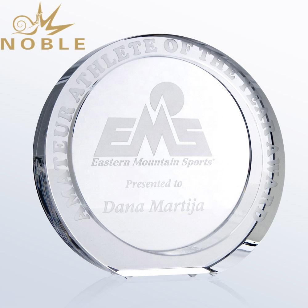 Popular New Design Best Selling Round Crystal Custom Award Trophy