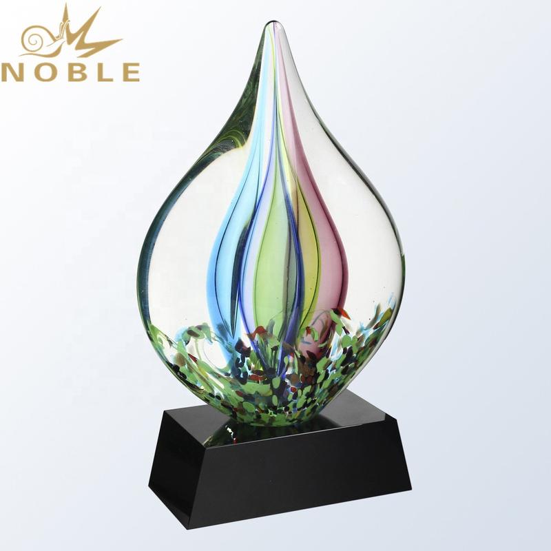 High Quality Hand Blown Unique Design Art Glass Award Trophy