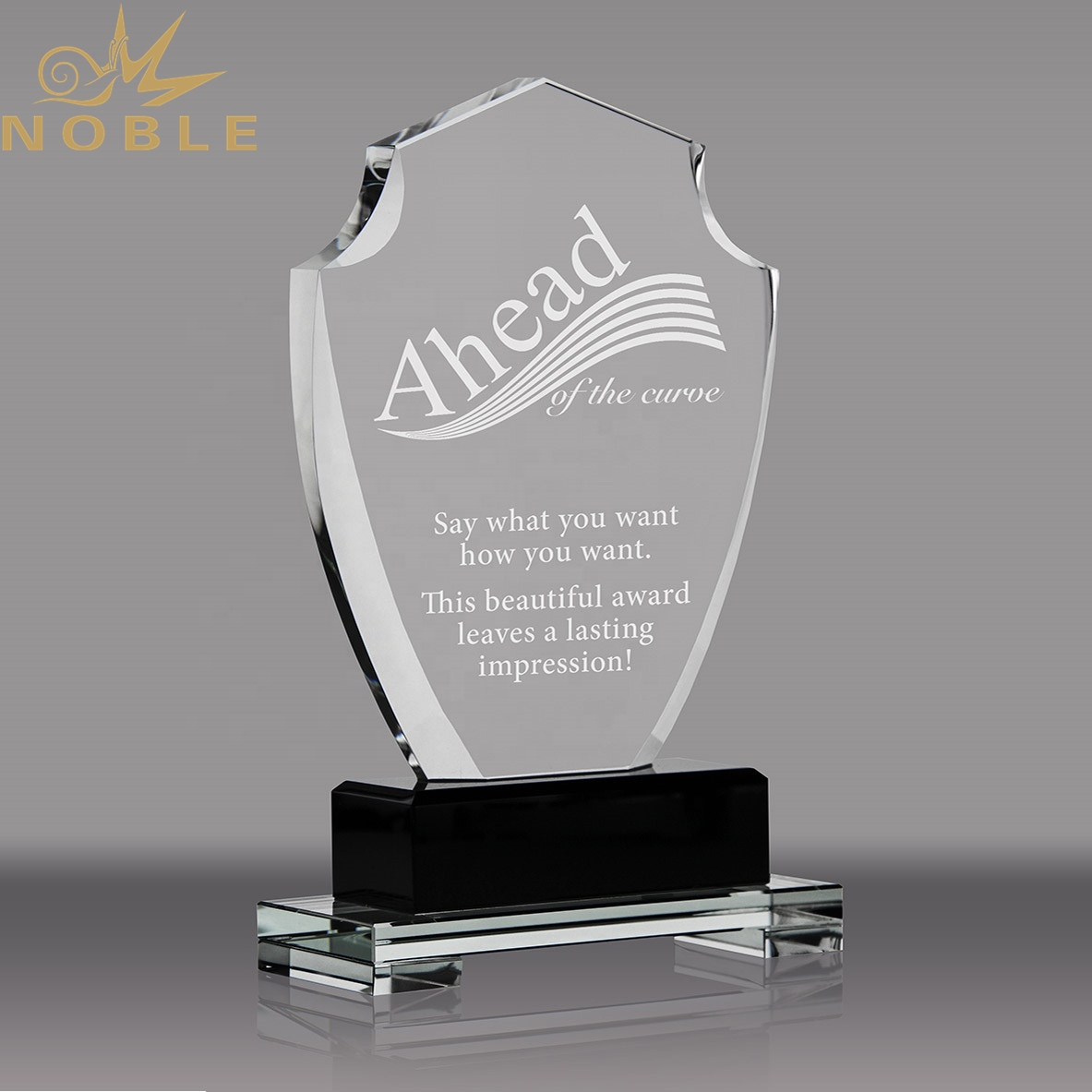 2020 Noble New Design Custom Crystal Shield Plaque Trophy