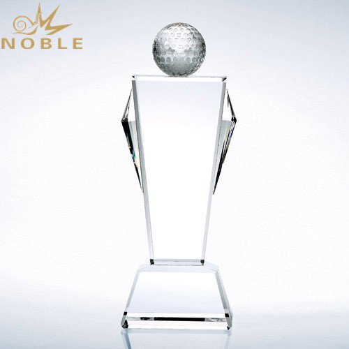 Noble Crystal Champion Golf Trophy with Free Engraving