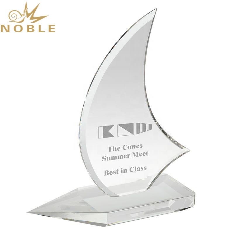 Noble Custom Crystal Souvenir Gift Clear Crystal Sail Award