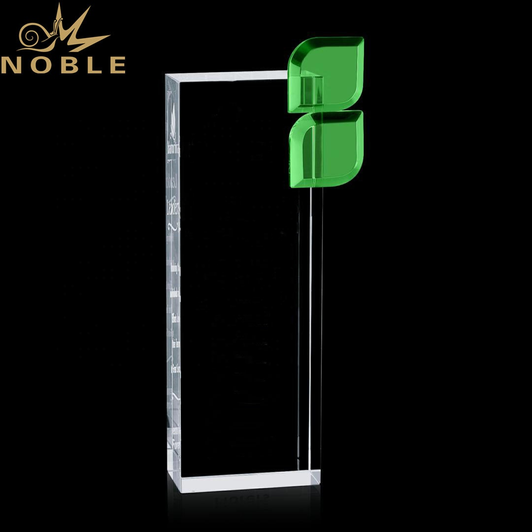 Noble High Quality Custom Optical Crystal Bernadette Award