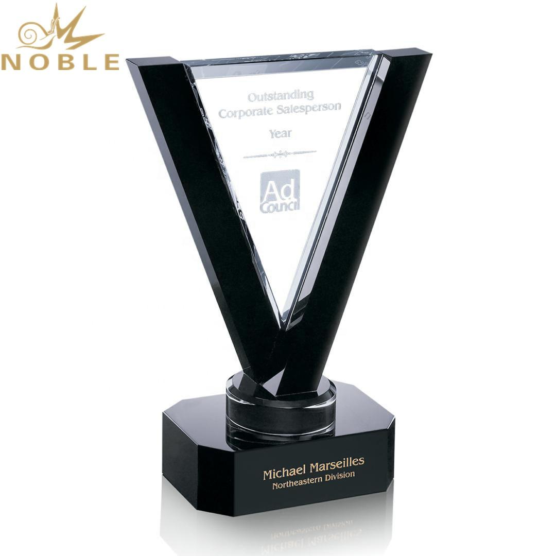 Excellent Unique Design Free Engraving Crystal Custom Plaque Trophy