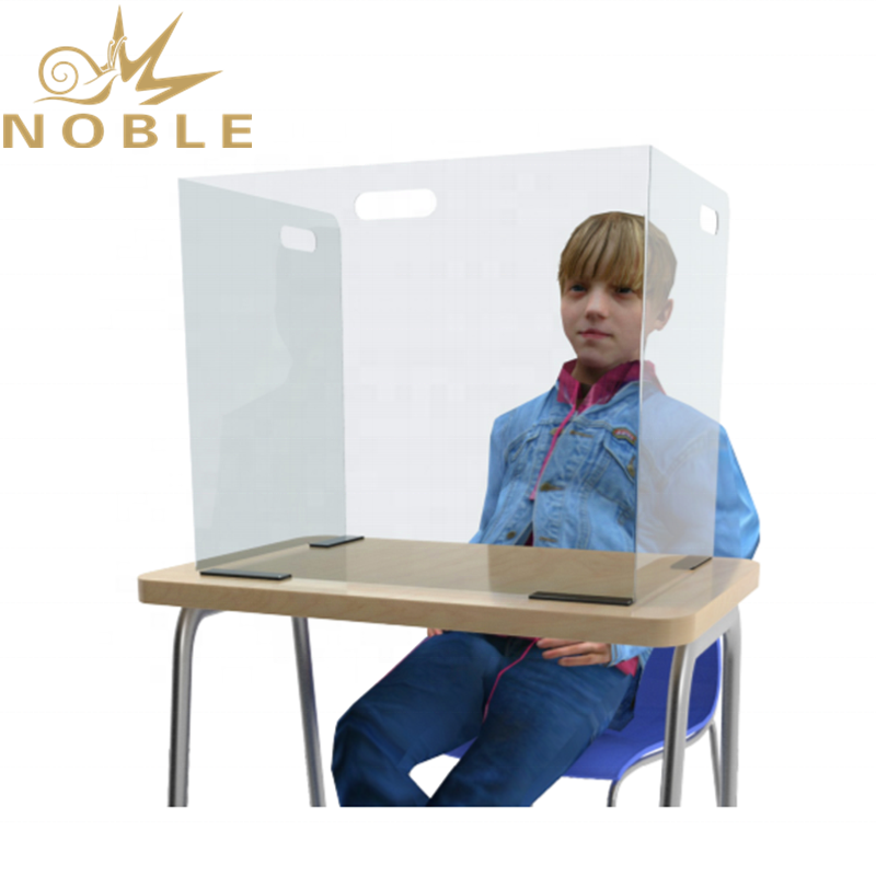 Available in Stock Custom Size Student Desktop Shields Hinge Sneeze Guard for Classroom & Office Environments