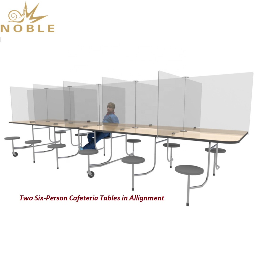 Professional custom acrylic desk partition Acrylic Counter Sneeze Guard Cafeteria Table Dividers