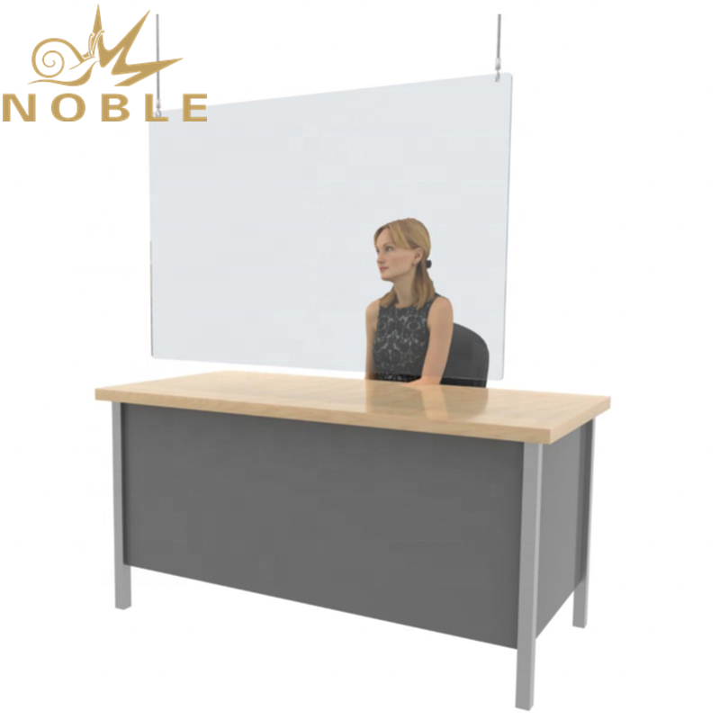Plexiglass Hospital Reception Hanging Sneeze Guard Clear Perforated Sheet Screen Teacher's Desk Hanging Sneeze Guard