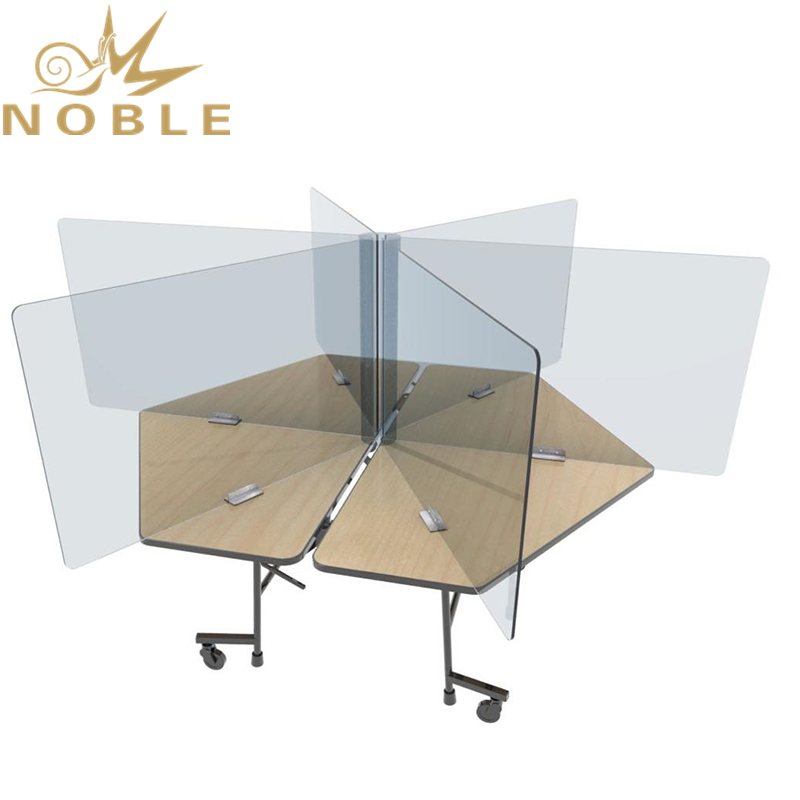 Noble Customized plexi glass Sneeze Guard Clear Acrylic Hexagon Table Divider