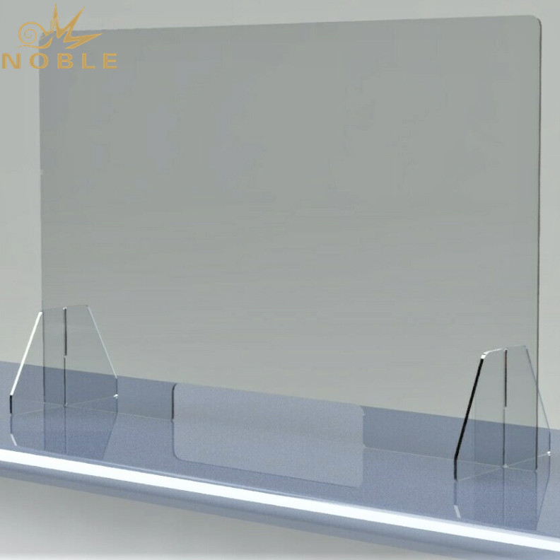 Custom Social Distancing Protective Shield Clear Plexi glass Acrylic Countertop Sneeze Guards