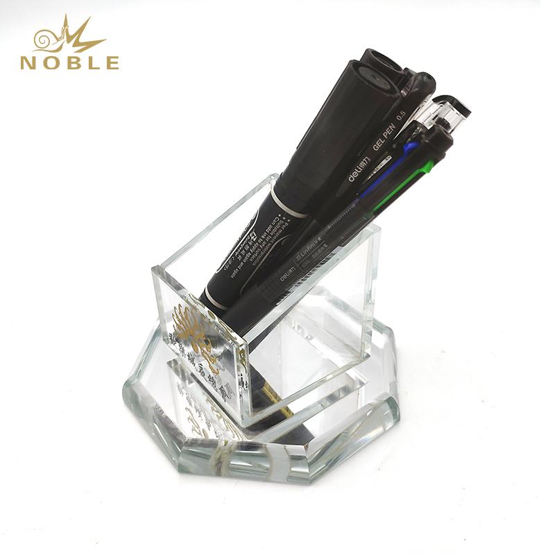 Popular Best Selling Custom Crystal Pen Holder with Your Logo Engraved
