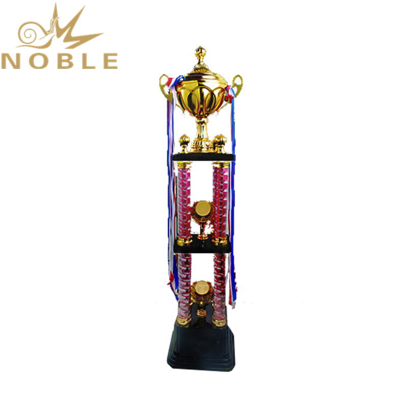 Double Layer Large Four Column Trophy